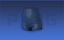 蓝色高腰短裤