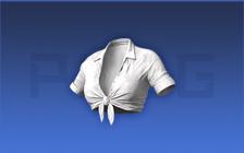 白色海滩系带衬衫