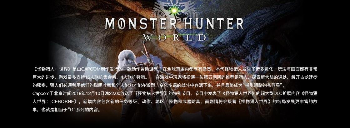怪物猎人世界标准版国区礼物