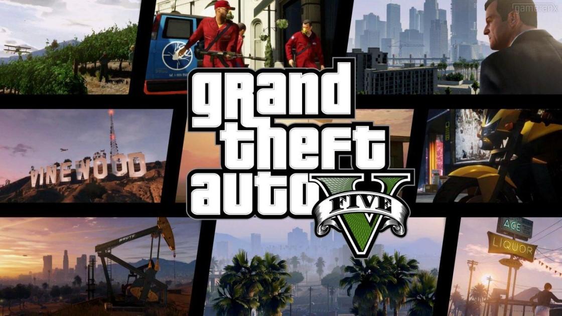 """侠盗猎车手5:GTA5原版游戏名称""""Grand Theft Auto V"""""""